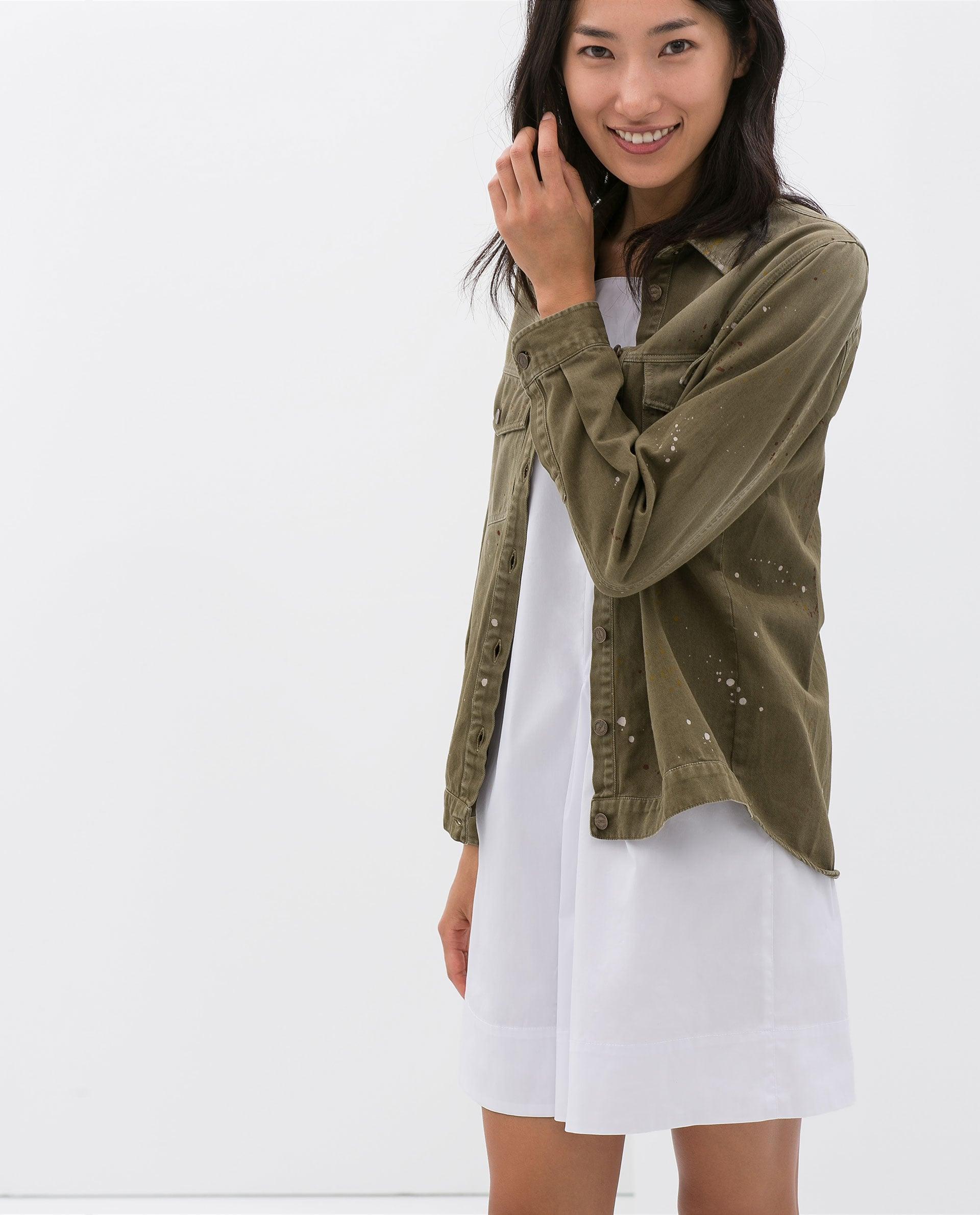 Zara Paint-Splattered Button-Down