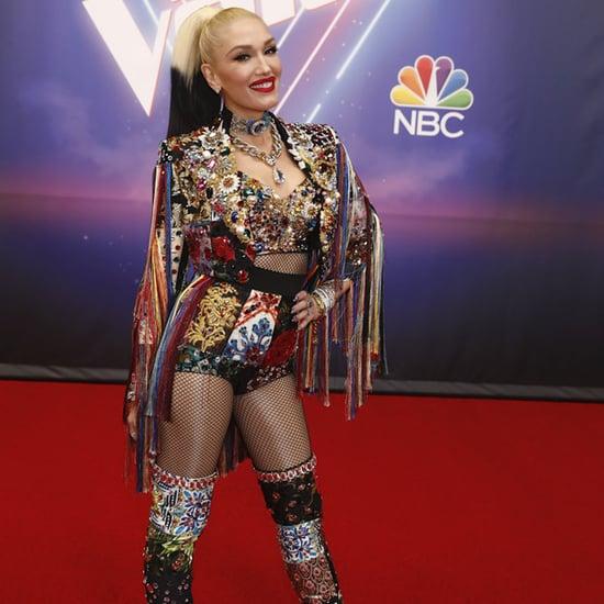 See Gwen Stefani's Rainbow Fringed Jacket on The Voice