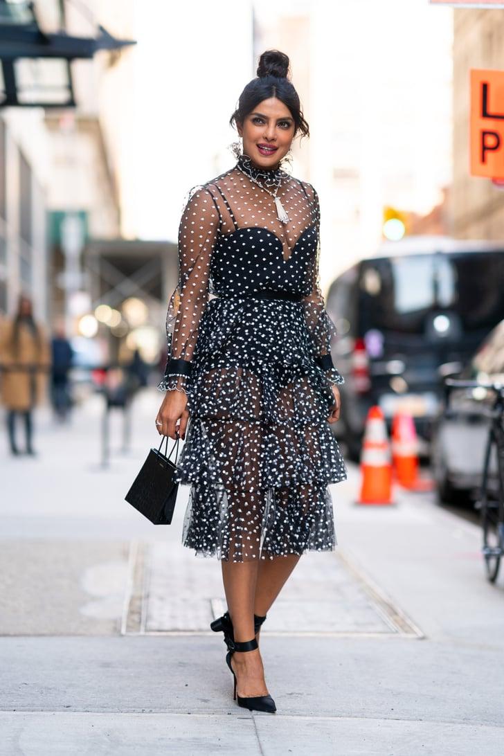 Priyanka Chopras Sheer Polka-Dot Dress  Popsugar Fashion Australia Photo 2-8611