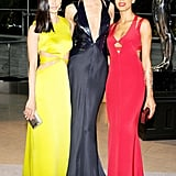 Karlie Kloss with Cushnie et Ochs designers Michelle Ochs and Carly Cushnie. Source: Billy Farrell/BFAnyc.com