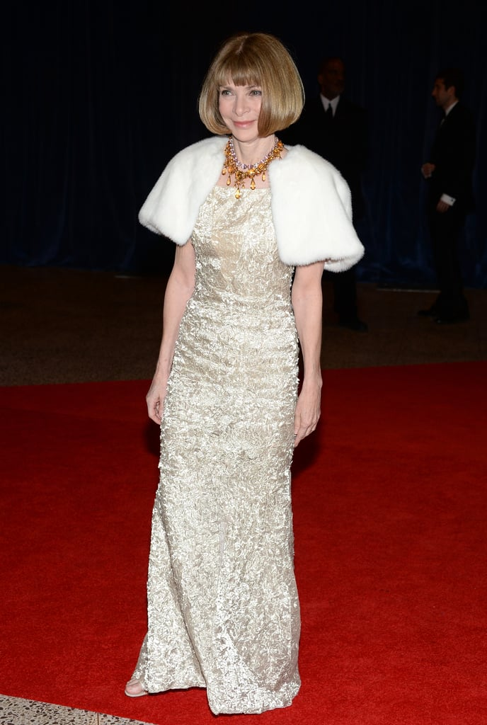Anna Wintour attended the 2013 White House Correspondents Dinner.