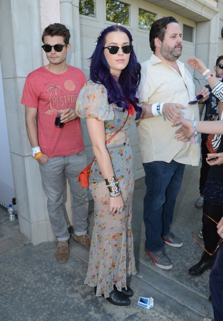 Katy Perry checked out the Lacoste event on Saturday.