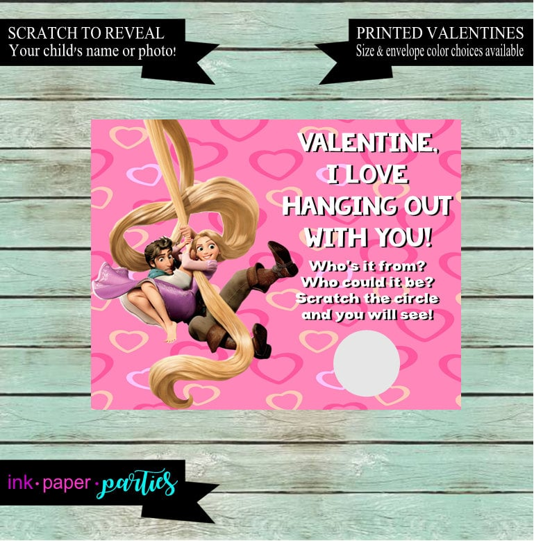 Tangled Scratch-Off Valentine Cards