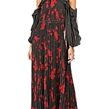 Self-Portrait Frill Sleeve Maxi Dress