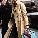 Kate Moss Birkin Bag Trench Coat
