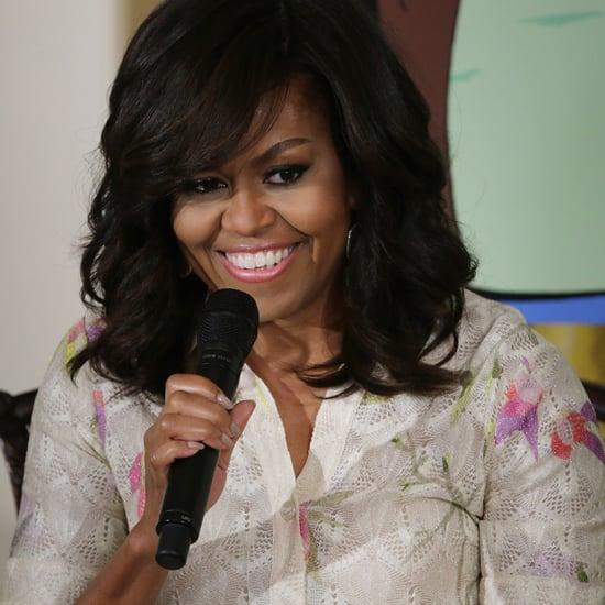 Michelle Obama's White Floral Dress April 2016