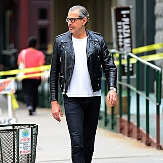 Jeff Goldblum in a Leather Jacket