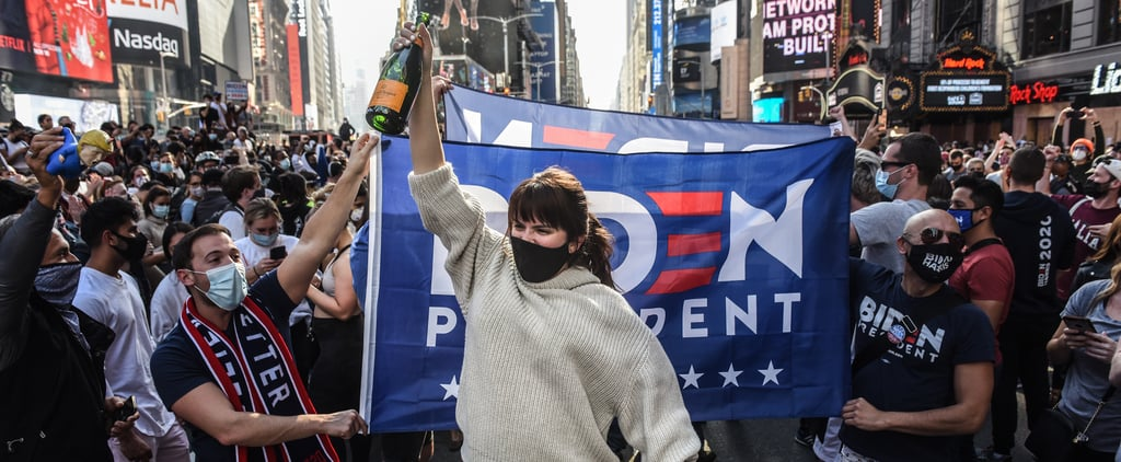 Crowds Celebrate Joe Biden and Kamala Harris's Win | Photos