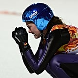 Carina Vogt of Germany was moved to tears after winning the gold in the women's ski jumping normal hill individual finals.