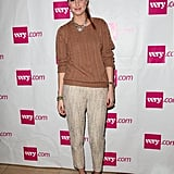 Whitney Port opted for a pair of cropped cream tweed pants at a shopping event in Los Angeles.