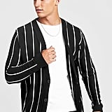 BoohooMAN Vertical Stripe Knitted Cardigan