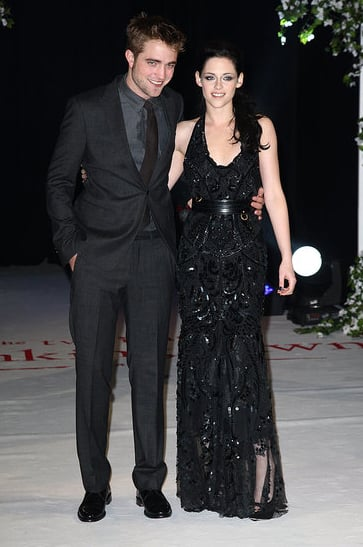 Robert Pattinson and Kristen Stewart showed love at the November 2011 London premiere of Breaking Dawn Part 1.