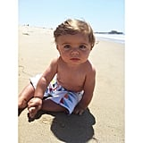 """He ate most of the sand at the beach today.""  Source: Instagram user jamiemenna"