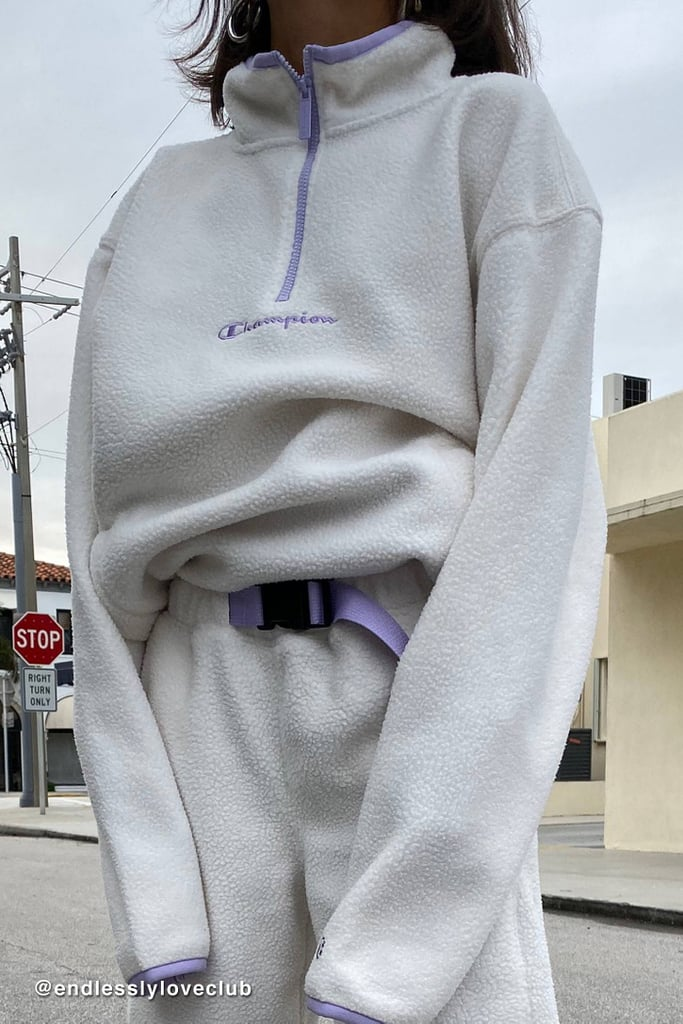 Champion UO Exclusive Polar Fleece Half-Zip Sweatshirt