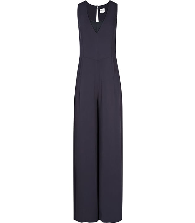 1f3ccc1a1f72 Pump up this navy-blue Reiss Raquel Tailored Jumpsuit ($465) with a pair
