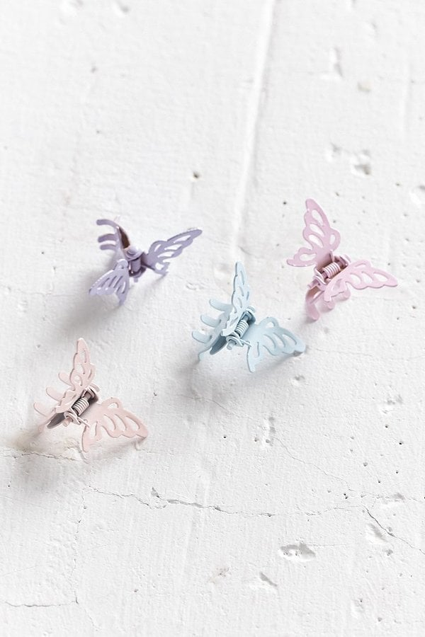 Urban Outfitters Metal Butterfly Clip Set