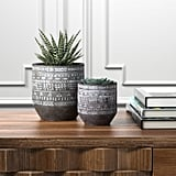 Rivet Modern Concrete Planter With Painted Accents