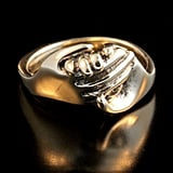 Gold Hand Art Ring ($945)