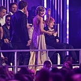 Taylor Swift waved to the crowd.