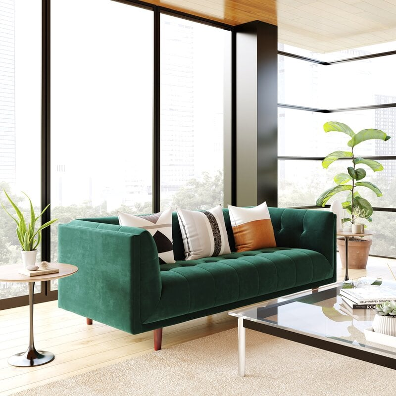 Best and Most Comfortable Green Sofas