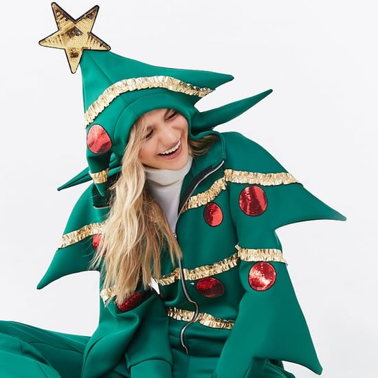 Forever 21 Ugly Christmas Tree Sweaters and Jumpsuits