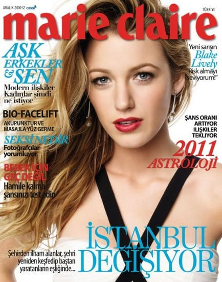 Blake Lively covers Marie Claire Turkey-december 2010