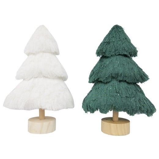 White & Green Trees