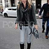 Kate Moss spent Friday in London.