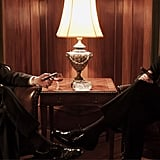 John Slattery and Jon Hamm on Mad Men.