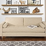 Modern Fabric Sofa With Tufted Linen Fabric