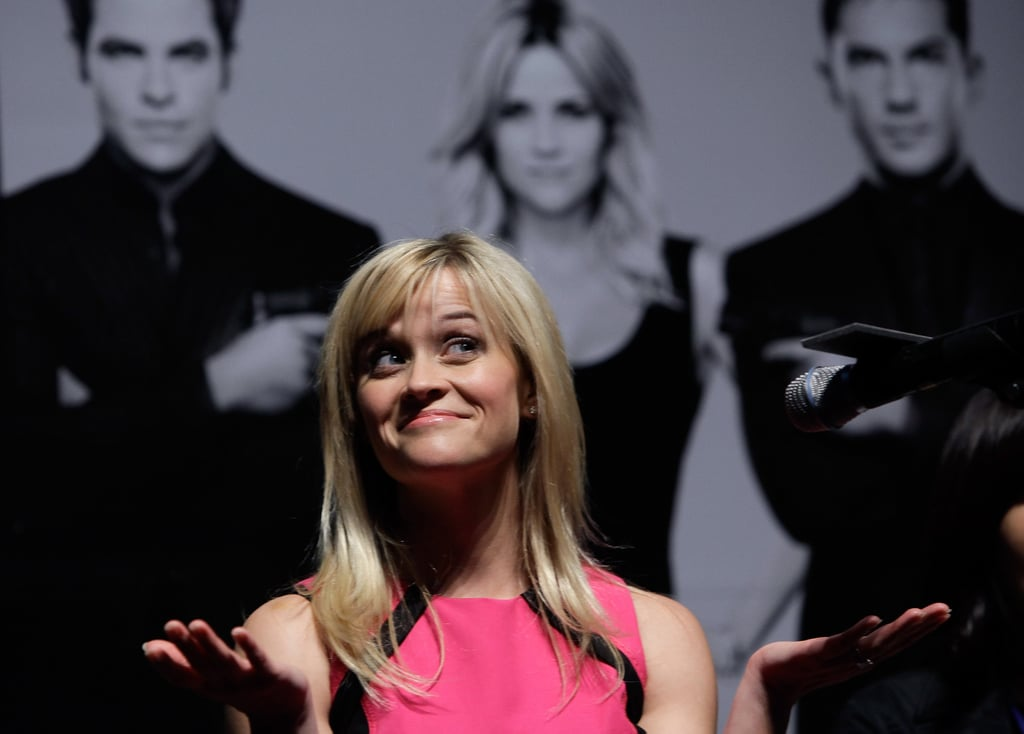 Reese Witherspoon joked at a Seoul press conference for This Means War.
