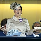She isn't shy about showing her disappointment for a bad result at the races.