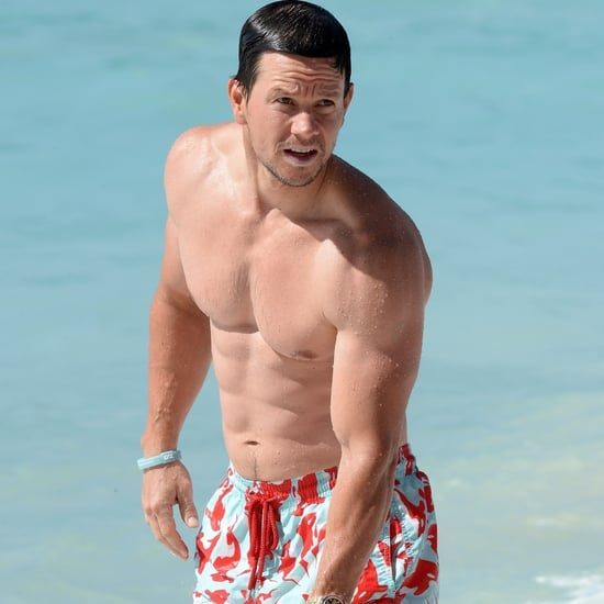 Mark Wahlberg Shirtless on the Beach in Barbados Jan. 2018