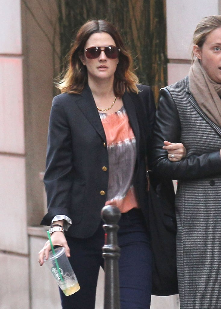 Drew Barrymore stepped out in Paris.
