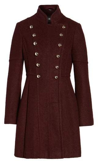 Guess Double Breasted Fit & Flare Coat ($258)