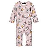 Baby Blush Long Sleeve Tea Party Printed Bodysuit  ($13)