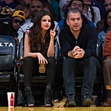 Selena Gomez, Julianne Hough and Nina Dobrev Watch LA Lakers