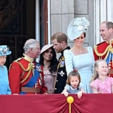 Why Meghan Markle Stood in the Back For Trooping the Colour
