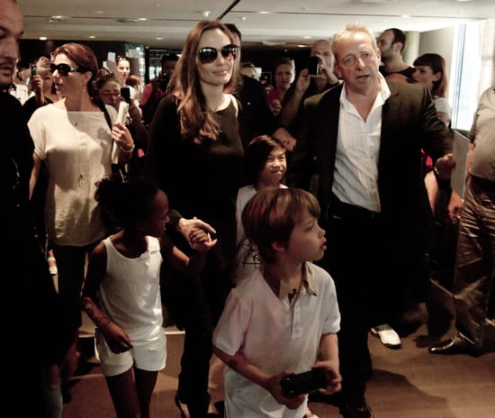 Angelina Jolie Pictures Leaving Sarajevo