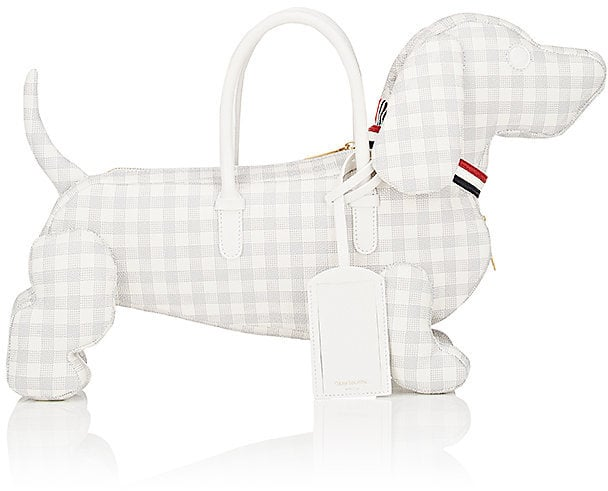 The subtle gingham print and soft fabric of Thom Browne's Women's Hector Dog Bag ($2,360) elevate it instantly.