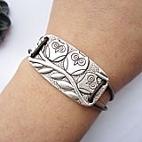 Silver Three Owls Bracelet