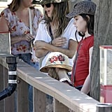 Rachel Bilson spent the day with her sisters.