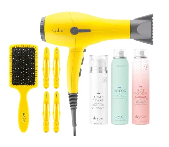 Drybar Glisten Up Buttercup Smooth Hair Essentials Set