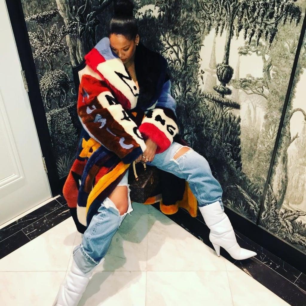 Rihanna's White Off White x Jimmy Choo Boots