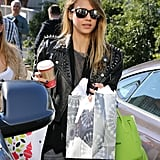 Jessica Alba did some Christmas shopping at Target