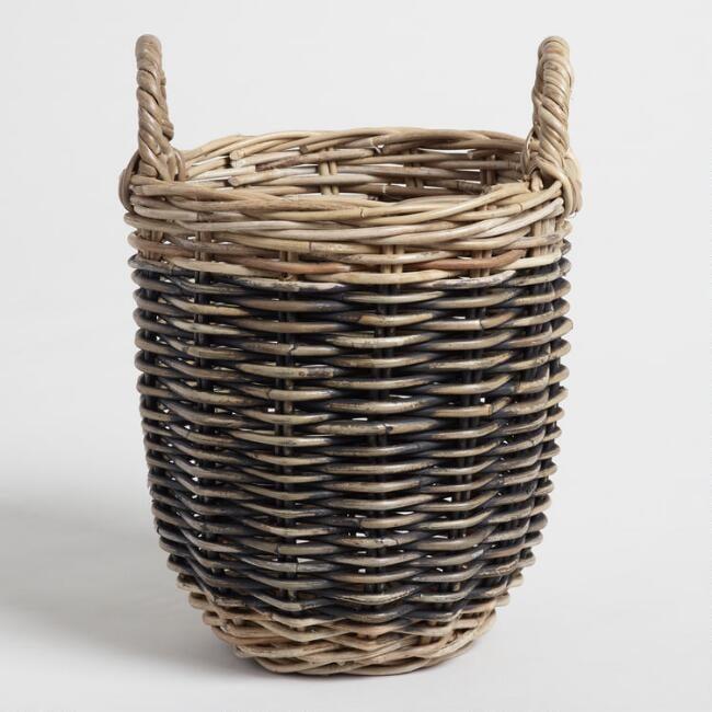 Small Two Tone Kubu Celeste Tote Basket