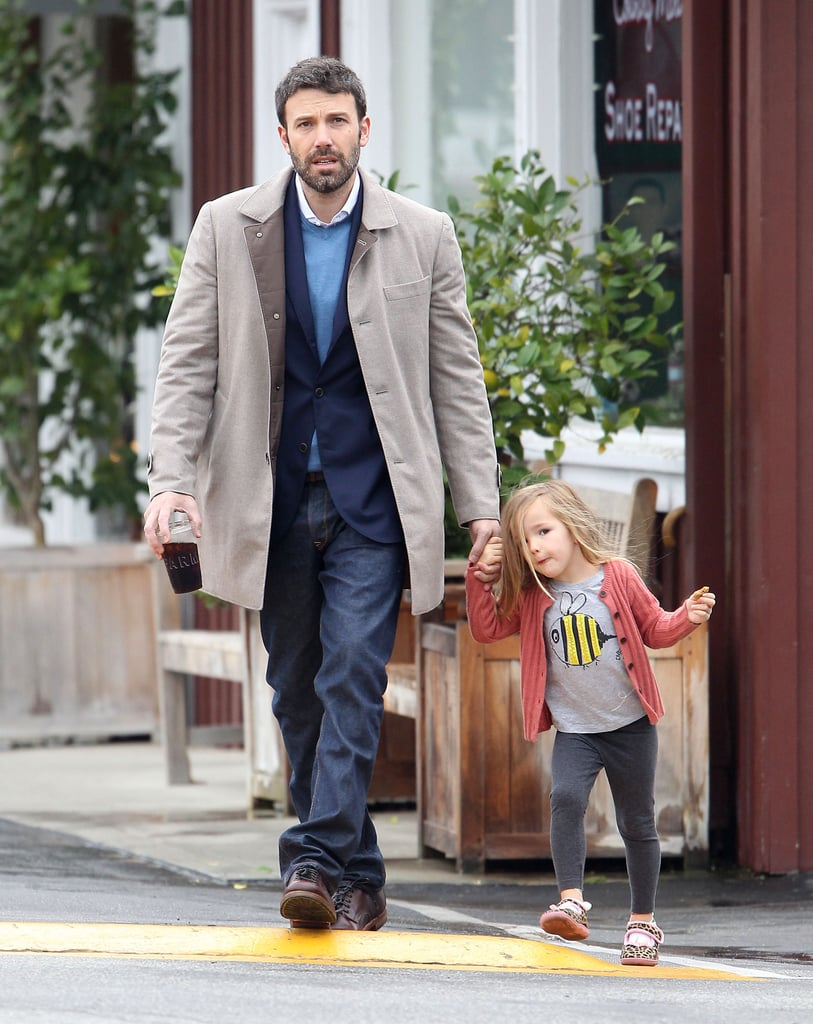 Ben Affleck held Seraphina's hand in LA.