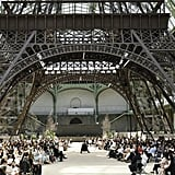 Karl Lagerfeld transformed the Grand Palais into the Eiffel Tower