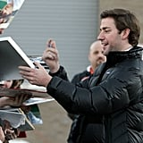 John Krasinski signed autographs at the 2009 festival.