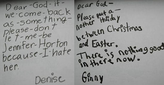 Sugar Shout Out: Kids' Funny Letters to God